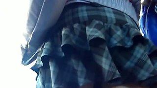 Skinny teen exposes camel toe in school girl upskirt vid