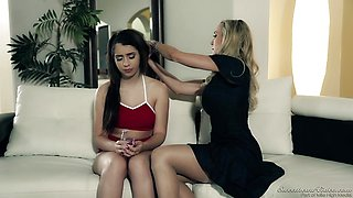 Brandi Love seduces sweet teen Joseline Kelly
