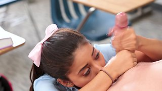 Teacher misuses post for sex with naive student on the desk