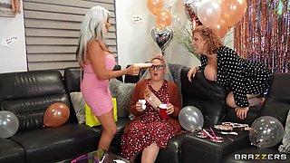 BRAZZERS Mature MILFs bring BBC to Bachelorette Party