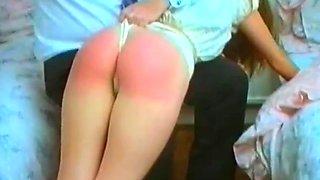 2 girl wedgie spanking