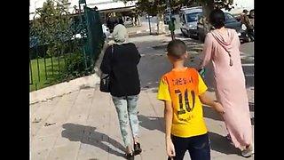Sexy moroccan hijab girls in street