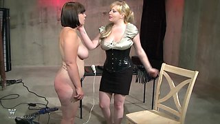 She must endure the brutal spanking while bent over