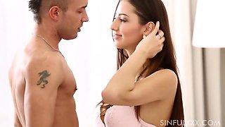 Kitty Jane In Sensual Scene With A Beautiful Couple