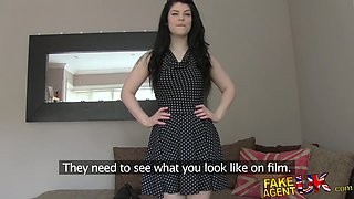 FakeAgentUK: Fancy student with soft body has intense surprise orgasm