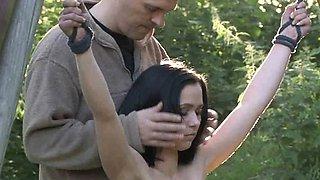 Skinny mini slave slut exploited for bondage fantasy
