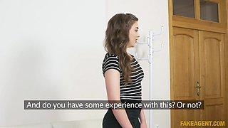 Alisha Rage & Thomas in Flexible brunette in red panties - FakeAgent