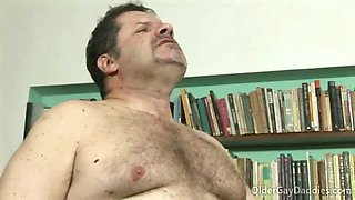 Rough sex in the living room for older gay daddies