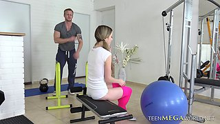 Empera's workout session quickly turns into doggy style ramming
