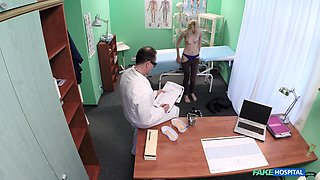 Doctor slides his long schlong in wet pussy of attractive Jenny