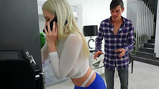 Josh grabs natural stepsis Roxy Risingstar's booty and fucks her