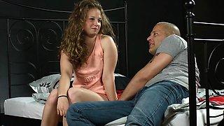 Nice teenie opens up spread twat and loses virginity