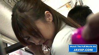 Japanese MILF On The Public Bus