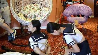 Twins In Schoolgirl Uniform