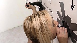 Kate England gets creampied by black cocks at gloryhole
