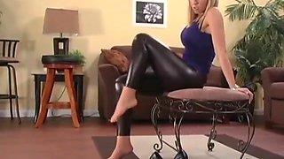 Jessica Lynn's Black Shiny Leggings