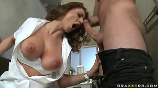 Amazing fuck with a hot guy named Choky Ice and his busty slut Roberta Gemma