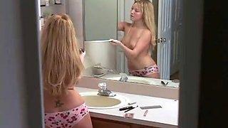 Pretty Slim Girl Spied In Bathroom