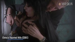 Cassandra Peterson aka Elvira naked scenes compilation