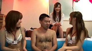 Lustful Japanese friends get together for a wild sex party