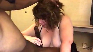 Drunk bbw gets crazy on the dick