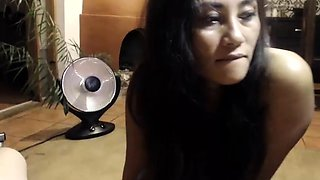 Gorgeous Thai babe with lovely titties gives a POV blowjob