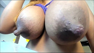 Colombian Cow Milks Her Udders #3
