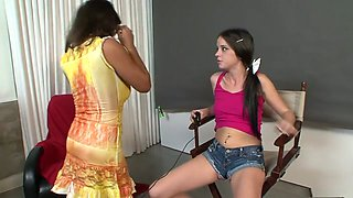 Best pornstars Persia Monir and Bonnie Skye in hottest brunette, masturbation xxx scene