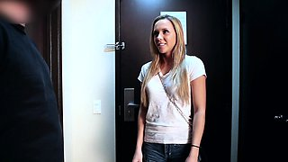 Perky nippled 5 foot 4 sexy blonde cutie Holli Mack has her