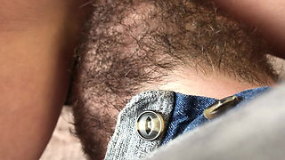 I sit on a bearded face