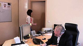 Old Young Porn My Sister Fucked Her Boss in the office