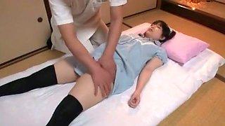 Hottest Japanese chick Ami Morikawa in Amazing Dildos/Toys, Stockings/Pansuto JAV scene