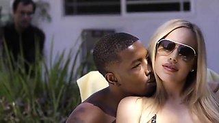 Olivia Austin fucked by black thug, cucks little white husband