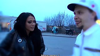 BUMS BUS - Bus fuck at the car wash with German brunette
