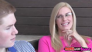 Jake Taylor is blown by a MILF Goddess ....