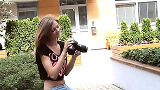 Cute chick gapes spread snatch and gets deflorated