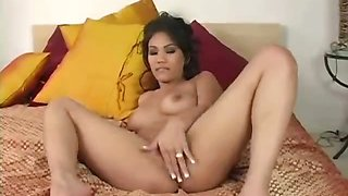 Hot Asian Lucy Thai is masterbating!