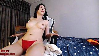 Asian big tits camgirl oil show